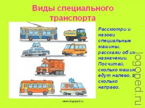Презентация 'Транспорт'.
