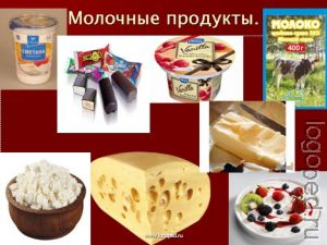 Молоко и молочные продукты. Звуки м, м'. Буква М.