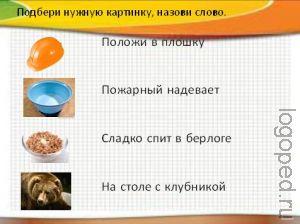 Презентация индивидуального занятия по дифференциации звуков С и Ш.