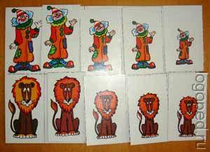 Один веселый клоун, ….., пять веселых клоунов. Один ласковый лев, …., пять ласковых львов.